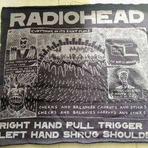 Radiohead Back Patch Wall Hanging